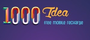 1000 Idea Free Mobile Recharge App Review : Earn Free Talk Time Bonus