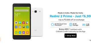 Xiaomi Redmi 2 Prime Review, Price, Specification in India
