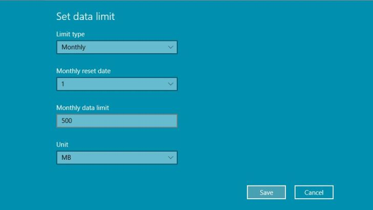 Enable Metered Connection in Windows 10/8.1/8 Save Internet Data