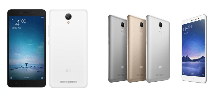 Xiaomi Redmi Note 2 vs Xiaomi Redmi Note 3