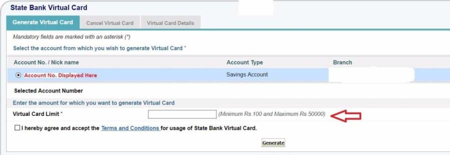 How to Create SBI Virtual Card - 2