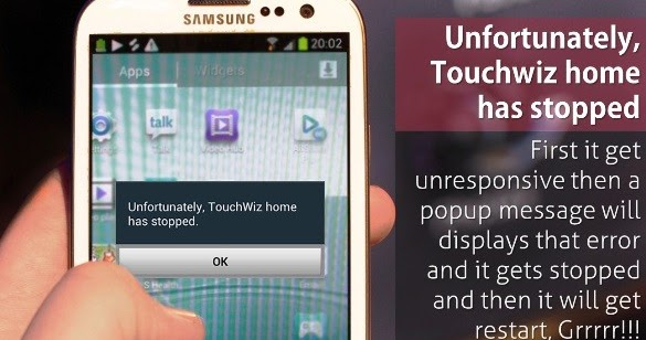 Unfortunately Touchwiz Home has Stopped Error Fix