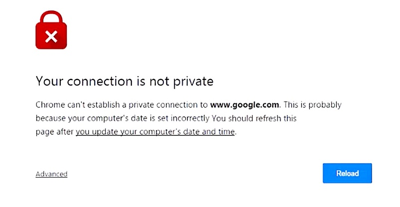 Fix Your Connection is Not Private Google Chrome