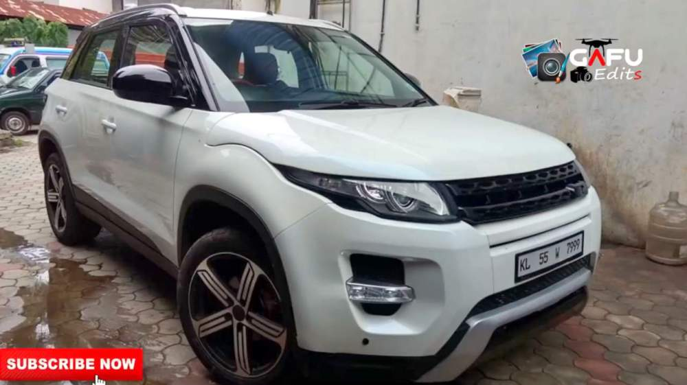 medium resolution of to make the new brezza stand apart the owner has also added land rover like honeycomb front grill in the place of the chrome grille offered by maruti