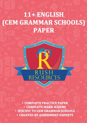 11+ cem grammar english paper