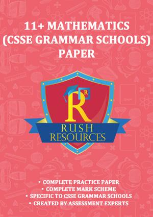 11+ csse mathematics grammar paper