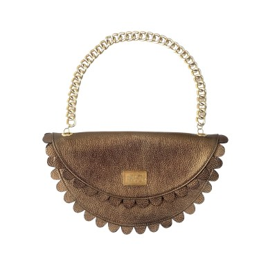 Daisy 2.0 - Bronze clutch bag