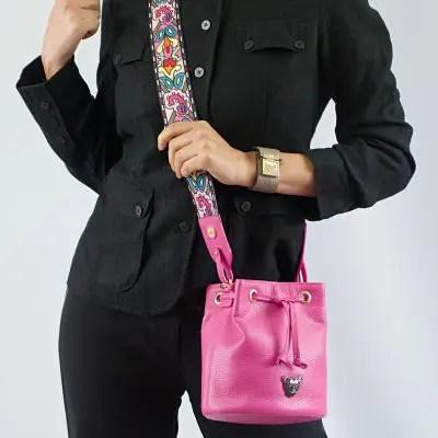 Pink Bucket Bag Model