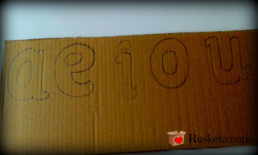 Cmo hacer letras de cartn para nios  Rusketacom