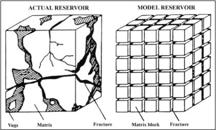 THE SIMULATION OF THE FRACTURED FAULTED RESERVOIR WITH