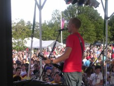John from Tree63 performing to the crowd