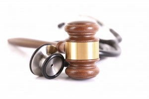 Orange County Injury Attorneys - stethoscope and gavel