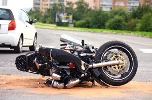 Orange County motorcycle accident lawyer - Fallen motorcycle