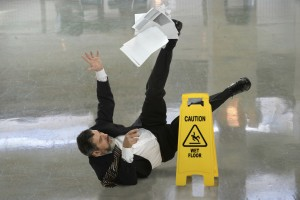 California Personal Injury Attorney - man falling on wet floor