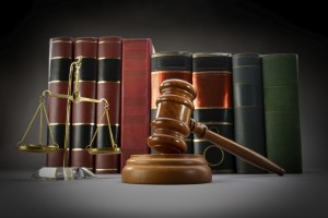 Long Beach Injury Attorney gavel balance books