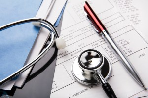 Stethoscope and Paper