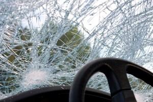 car accident broken window