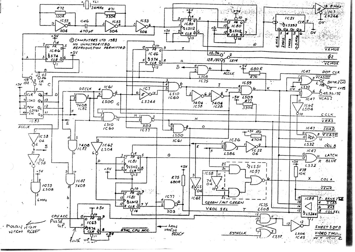 Motherboard Circuit Diagram