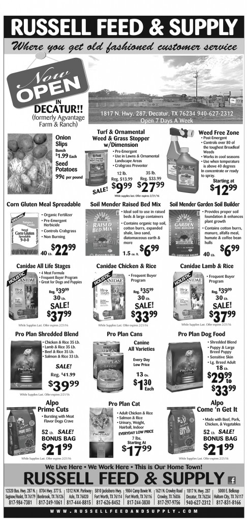 February Star Telegram Ad