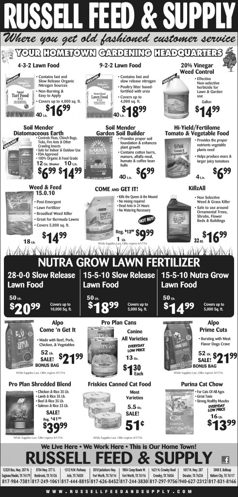 April Newspaper Specials