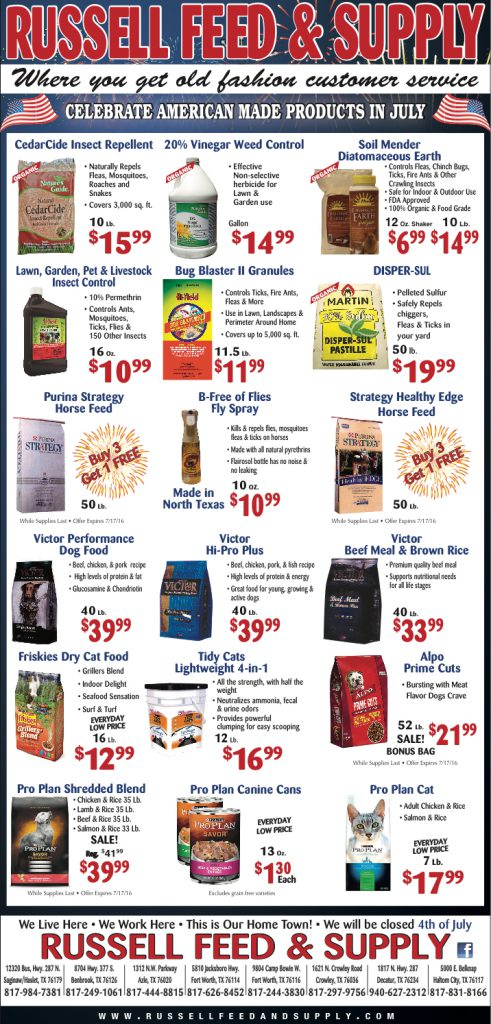 July Newspaper Specials