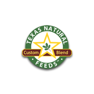Texas Natural Feeds Logo   Texas Natural Feeds are available at Russell Feed & Supply