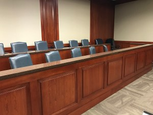 boy in the courtroom: jury box