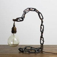 Arch Chain Table Lamp - Russell Oak and Steel Ltd