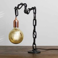 Roll Chain Bolt Lamp - Russell Oak and Steel Ltd