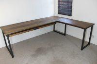 Otis Industrial Corner Desk - Russell Oak and Steel Ltd
