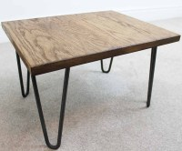 Trace Hairpin Industrial Coffee Table - Russell Oak and ...