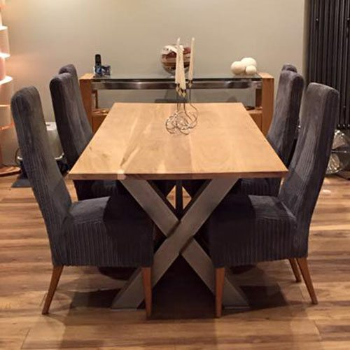 X Frame Industrial Dining Table Russell Oak And Steel Ltd