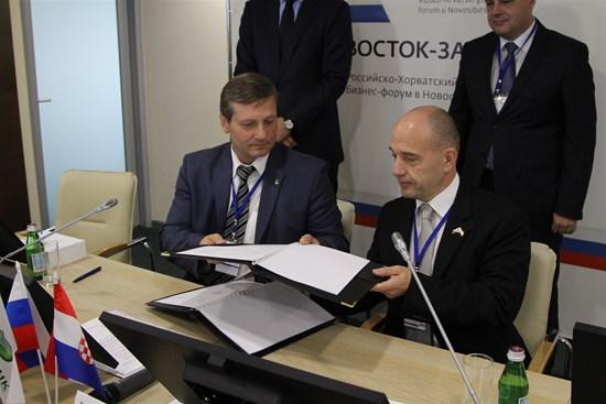 Potpisan Sporazum o suradnji između HGK i Trgovinsko-industrije komore ruskog grada Novosibirska