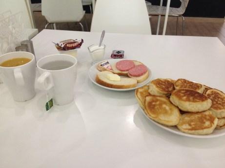 Breakfast in Prizma hotel, Russia