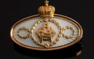 Faberge Brooch with Cypher of Alexandra Feodorovna