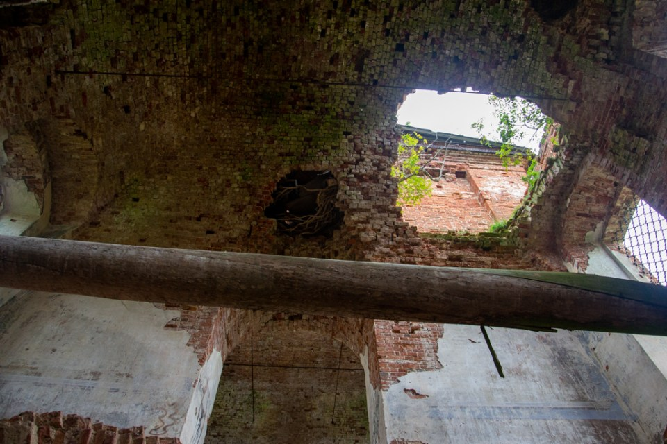 ruins inside the church