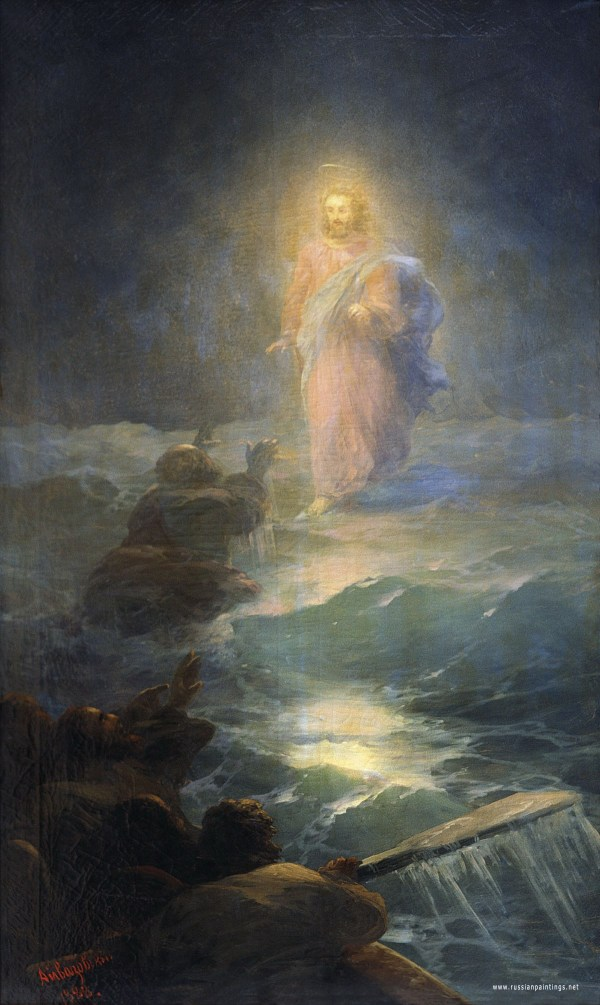 Jesus Walking On Water Painting