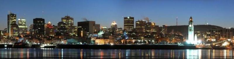 Montreal City Cityscape Panorama Canada Skyline