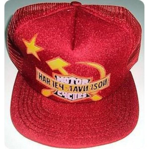 Harley Davidson Cccp Ussr Vintage Hat