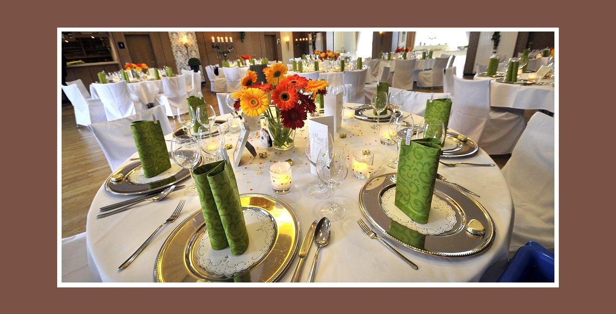 Hochzeitsdekoration  Tische fr Hochzeit dekorieren