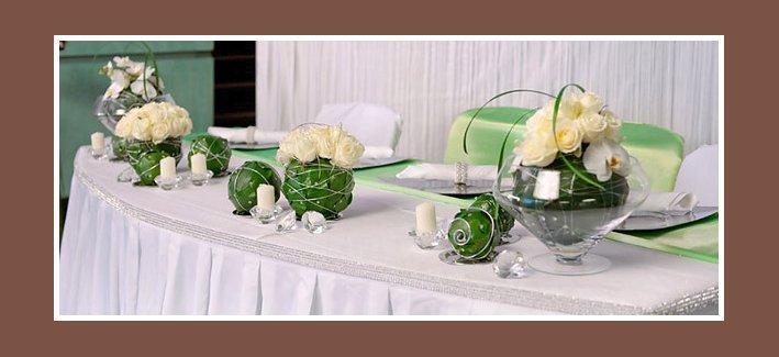 Hochzeitsdeko Tisch  Russische Hochzeit in Deutschland
