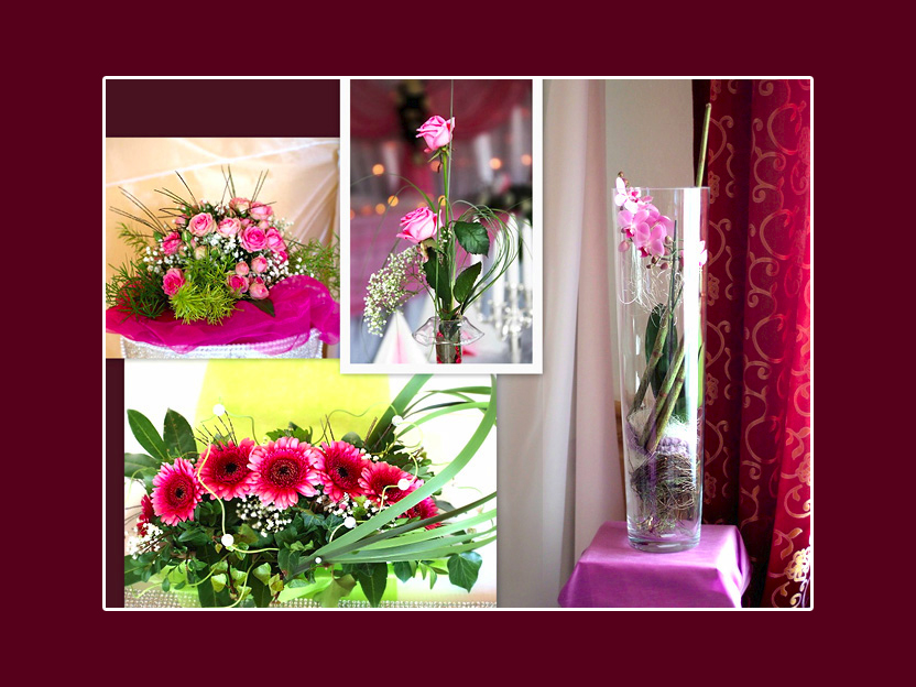 Blumen auf dem Tisch  einige Ideen fr Hochzeit oder