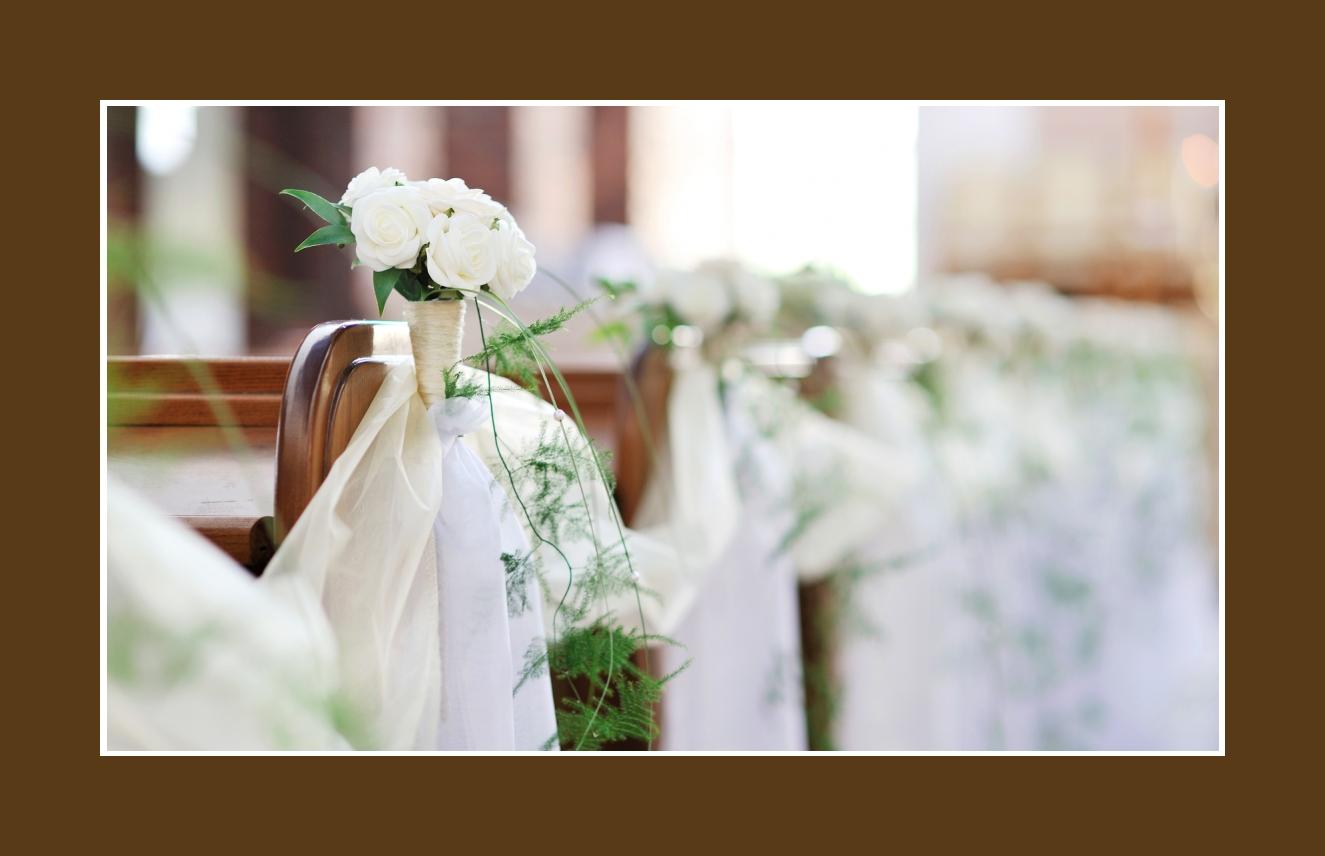 Blumenschmuck  Kirchendeko  Hochzeit mit Blumen dekorieren