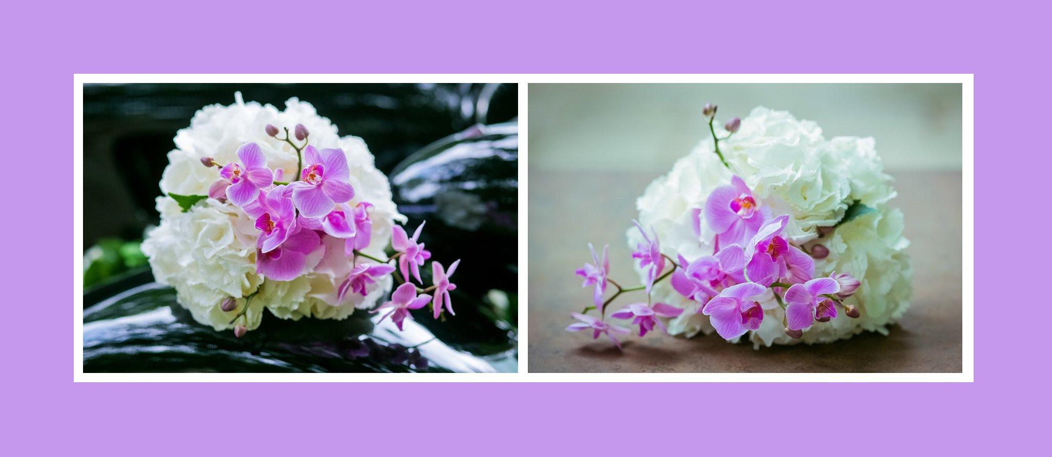 Brautstrau  Orchideen  Pfingstrosen  Russische Hochzeit in Deutschland
