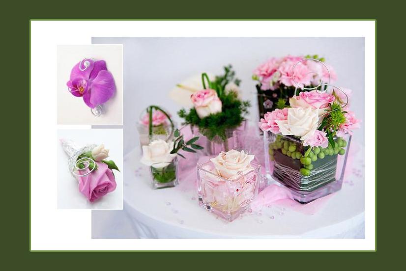 Blumendeko im Glas oder in der Vase  Russische Hochzeit