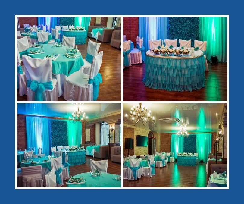 Trkis  Dekoration fr Hochzeit
