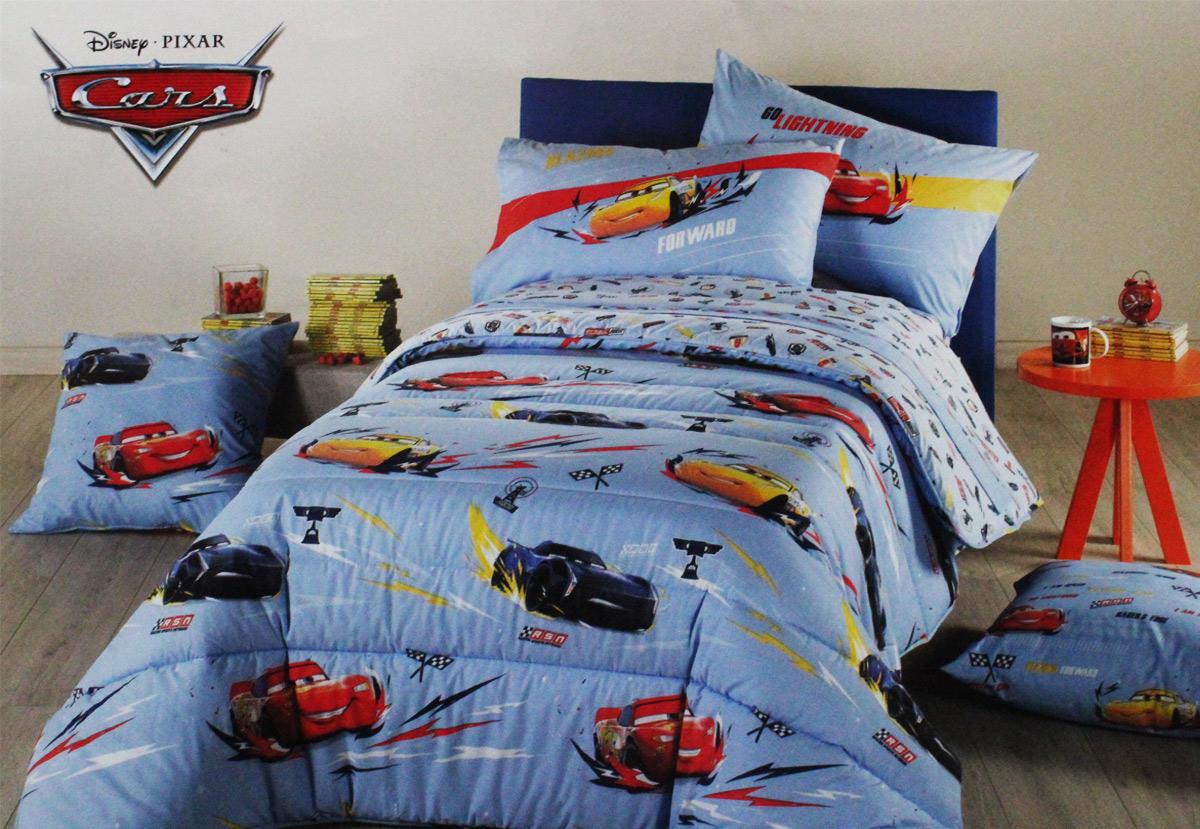 Disney cars lenzuolo con angoli 90x200 cm per letto 1 piazza cotone. Trapunta Piumone Letto 1 Piazza E Mezza Cars Speed Caleffi 100 Cotone Ebay