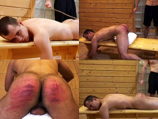 Boy get the spanking by the belt and cane. Hard boy spanking video.