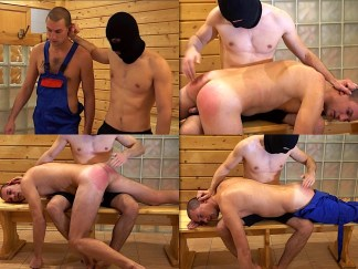 Male gay hand spanking punishment