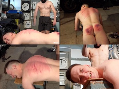 Male back whipping Konstantin